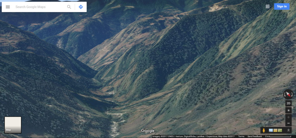 Pictures of mountains taken via google maps 3D view