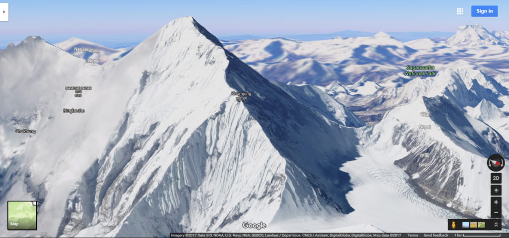 Another Image of Mount Everest via Google Maps