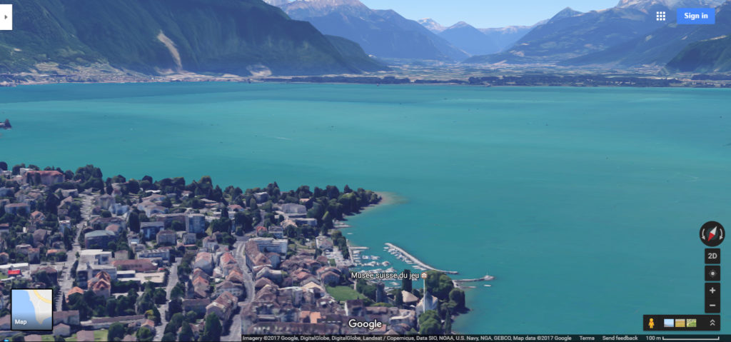 Switzerland via google maps