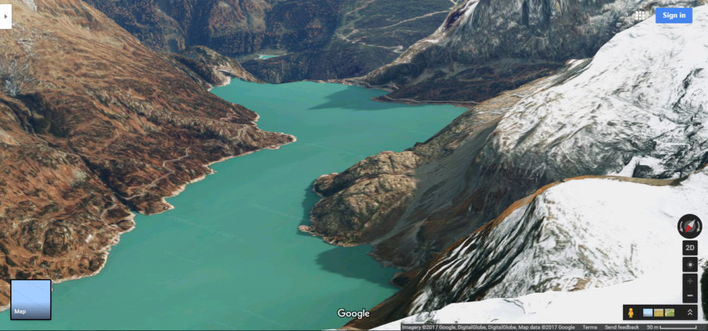 Lake in Switzerland via google maps
