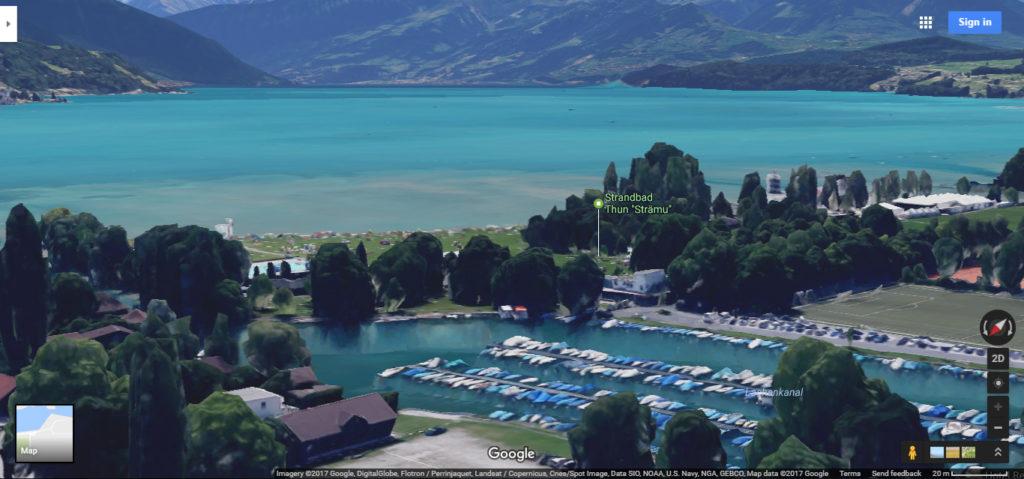 Switzerland via google maps