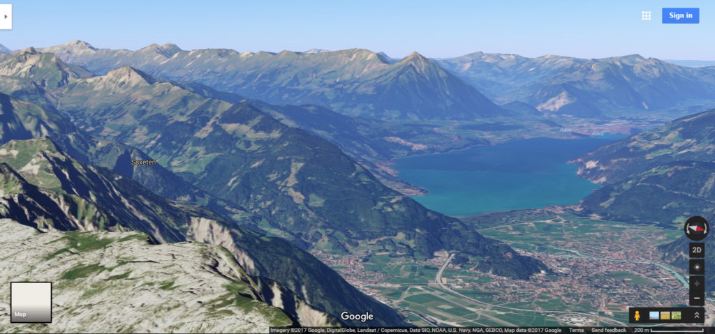 Another lake in Switzerland via google maps