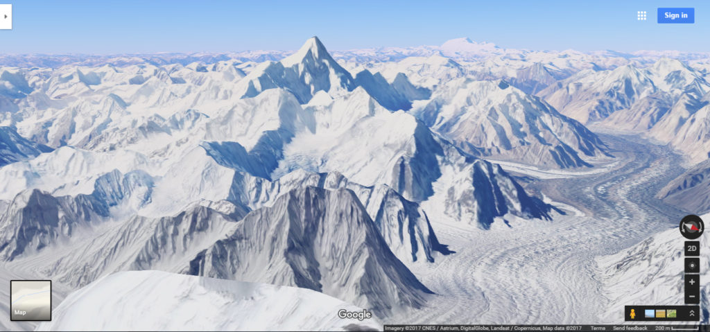 Picture of Mountains in North India taken via google maps 3D view